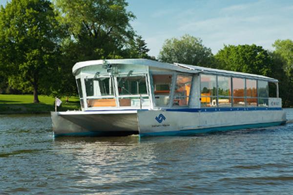 Bootstour auf dem Aasee in Münster