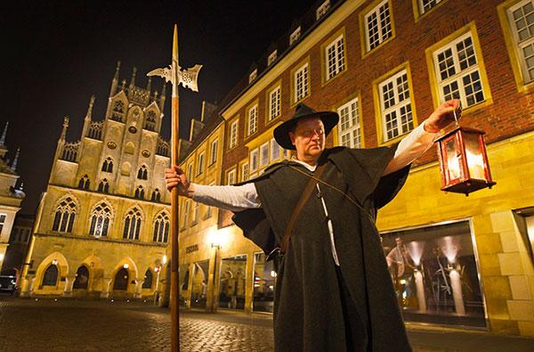 Nachtwächterrundgang mit StattReisen Münster