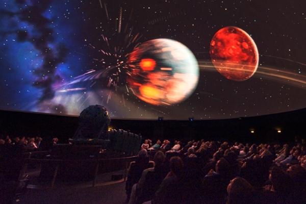 Show im Planetarium, direkt im LWL-Naturkundemuseum in Münster