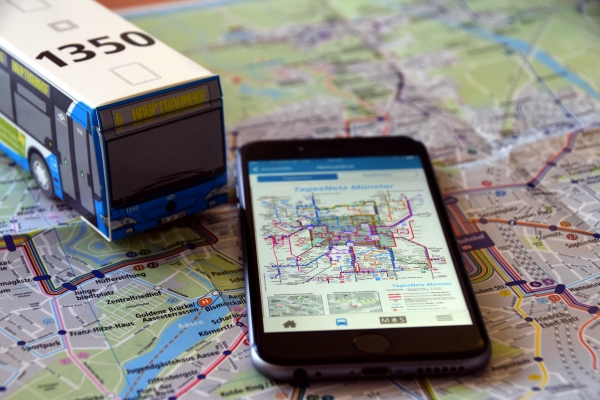 Bus und Bahn fahren in Münster: Alle Buslinien auf einen Blick im interaktiven Netzplan oder der münster:app