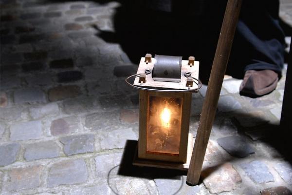 Der Nachtwächter von StattReisen Münster hat seine Laterne stets dabei