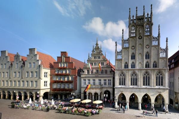 Das Rathaus am Prinzipalmakrt in Münster.